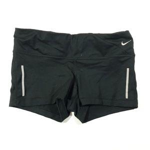 Nike dri fit solid black stretch shorts womens xs